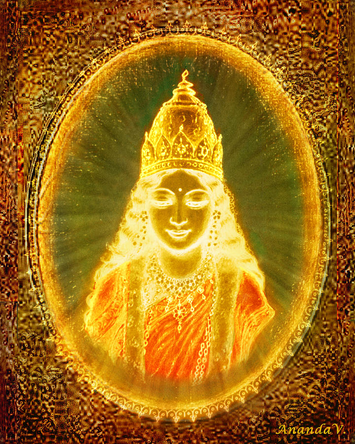 Lakshmi Mixed Media - Goddess Of Light by Ananda Vdovic