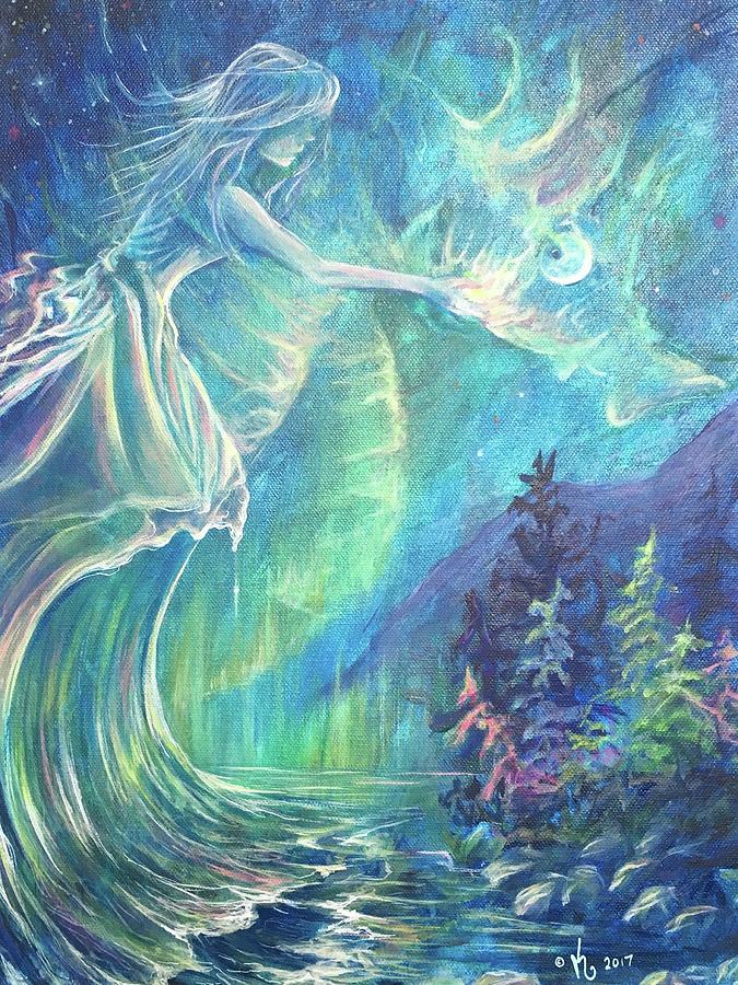 Goddess Painting - Goddess Of Memory by Zale