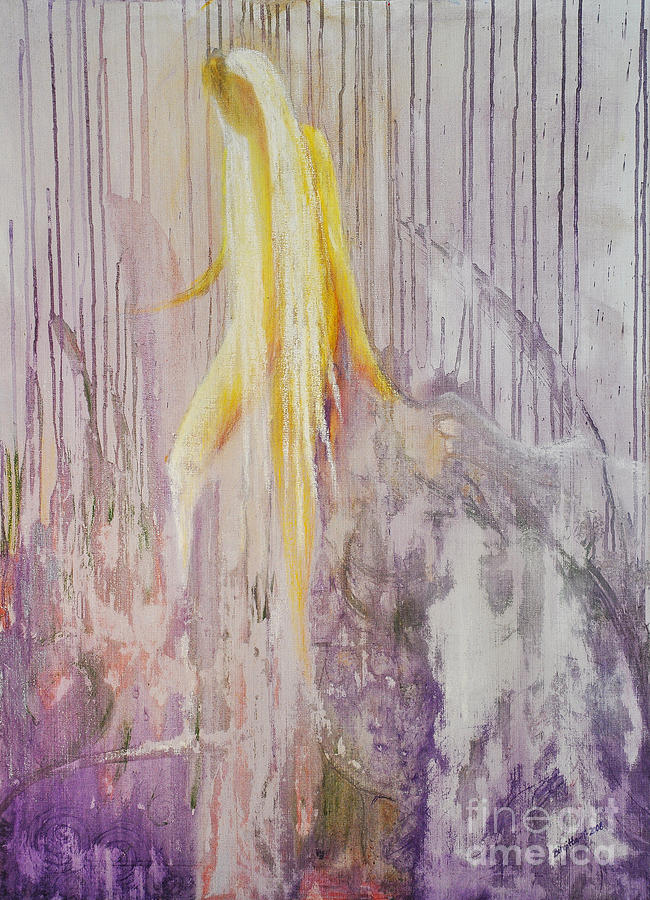 Fantasy Painting - Goddess Of Nature by Birgitta Thunberg