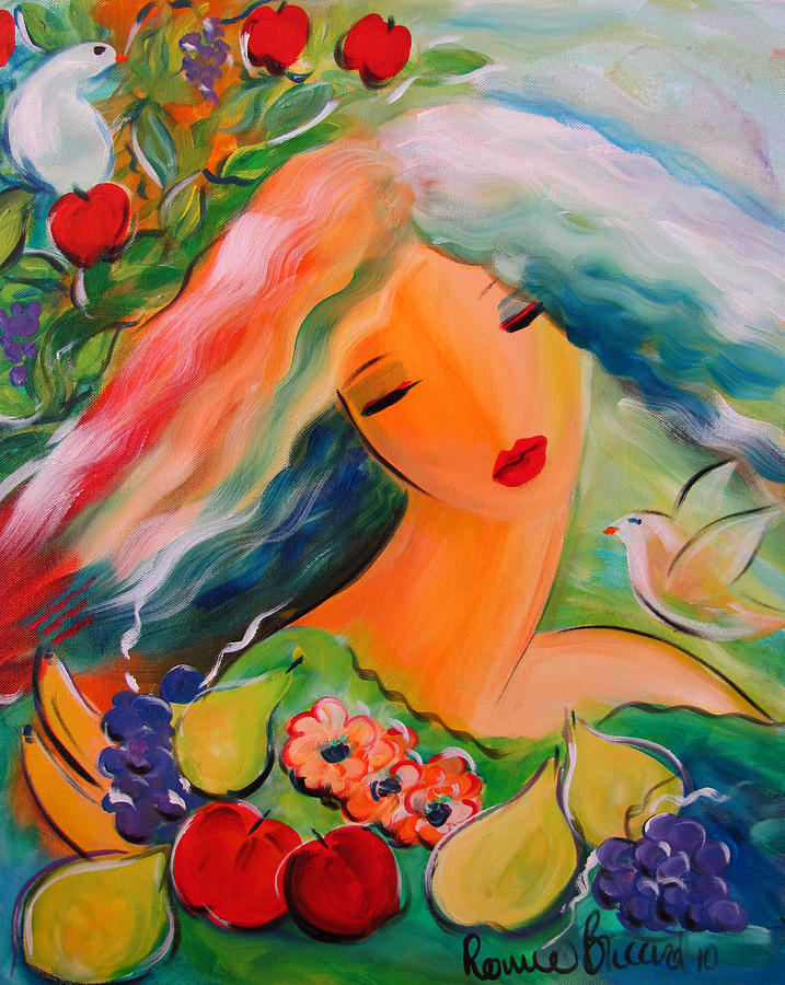 Beautiful Painting - Goddess of Summer by Ronnie Biccard