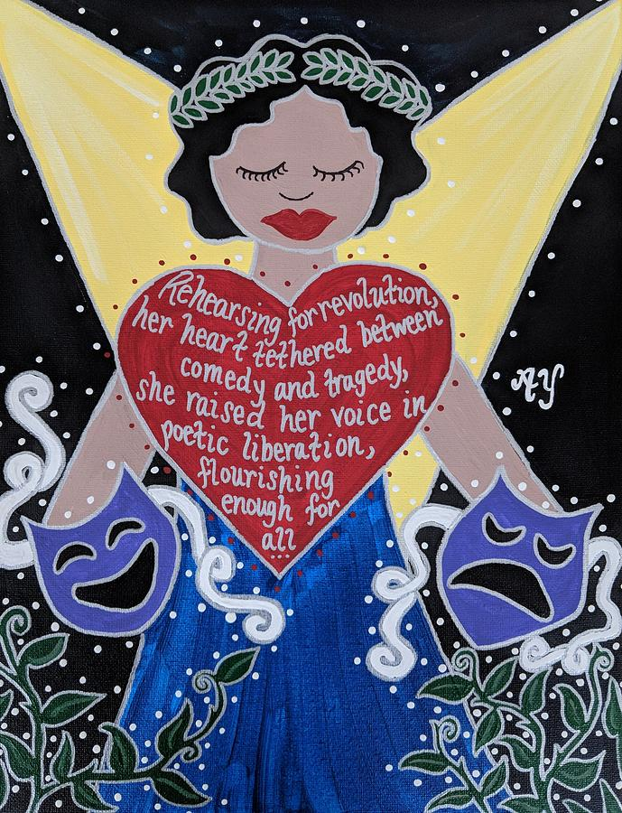 Holy Painting - Goddess of the Arts by Angela Yarber