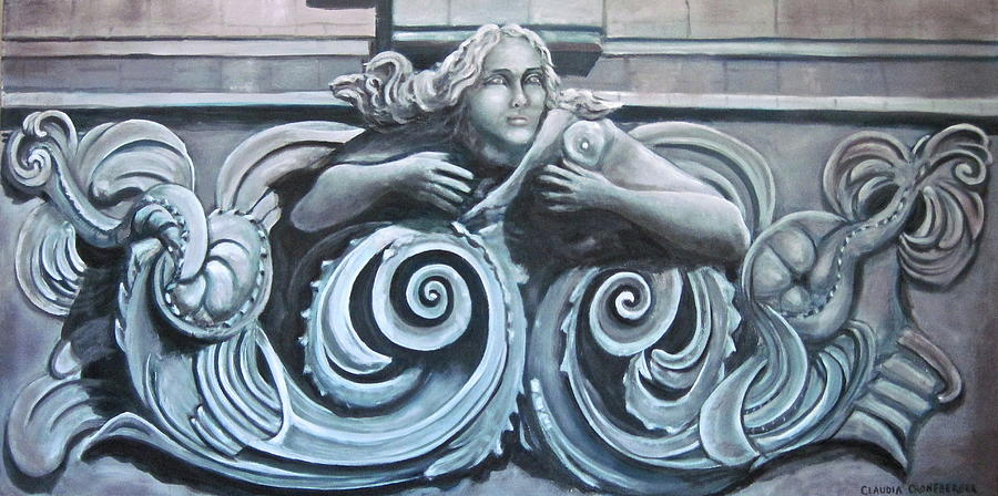 Sea Painting - Goddess of the Sea by Claudia Croneberger