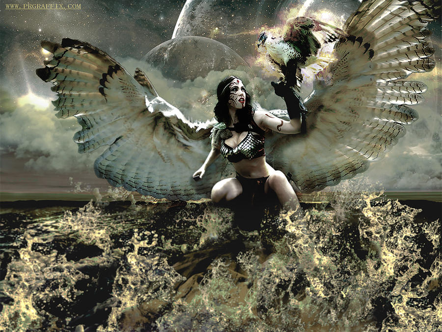 Wings Photograph - Goddess Of The Sea by Gela Ghaderi