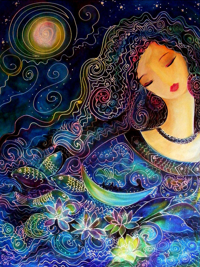 Beautiful Painting - Goddess Of Water by Ronnie Biccard