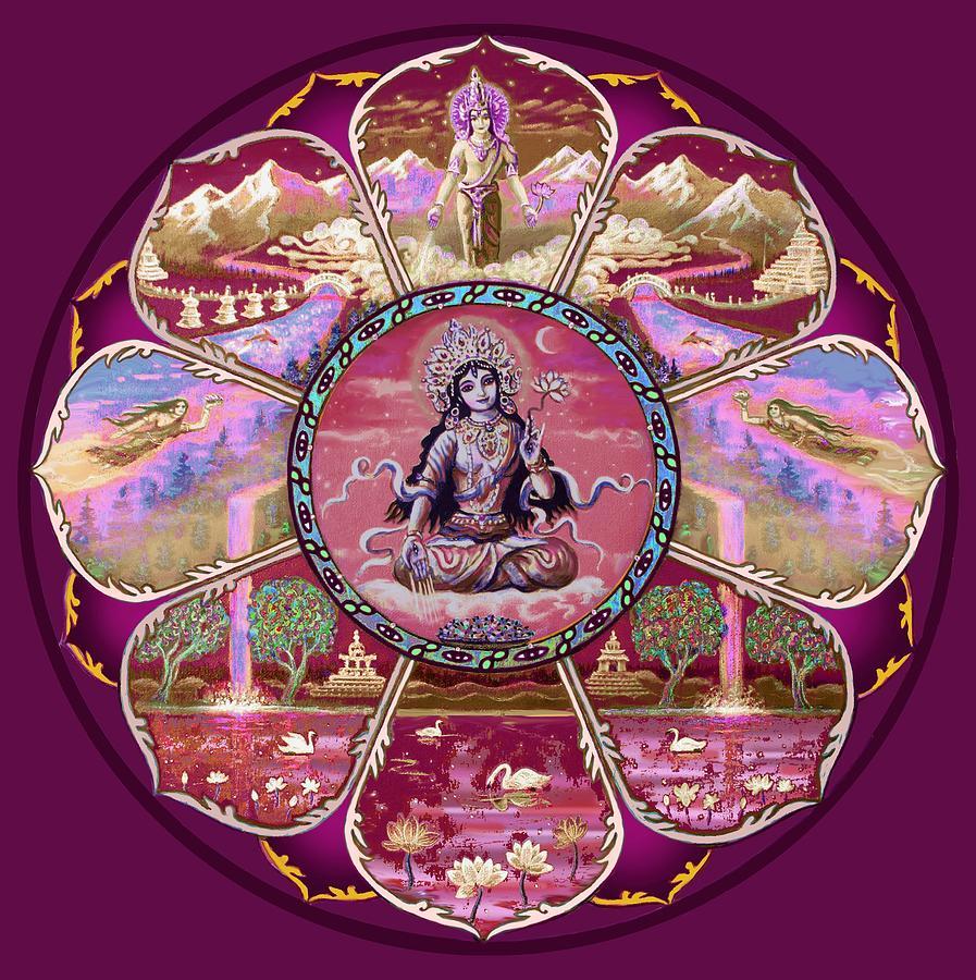 Goddess Tara Mandala Painting By Svahha Devi