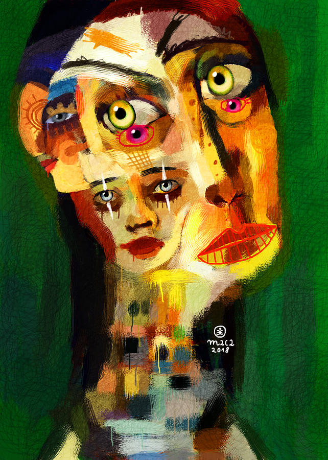 Woman Painting - Goddess With Many Faces 671 by Maciej Mackiewicz