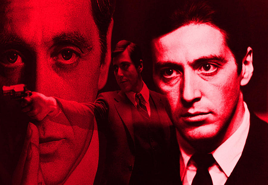 The Godfather Digital Art - Godfather In Red by Martin James