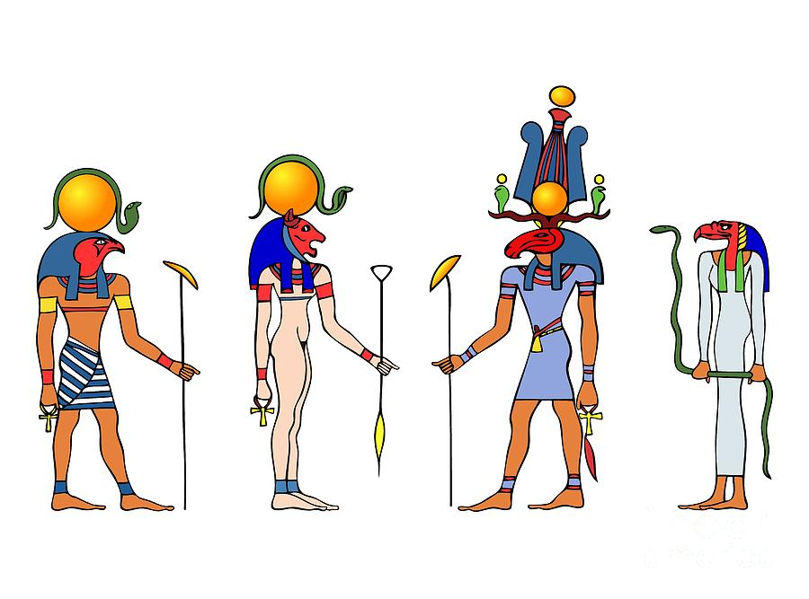 Gods and goddess of ancient egypt drawing by michal boubin egypt drawing gods and goddess of ancient egypt by michal boubin publicscrutiny Image collections