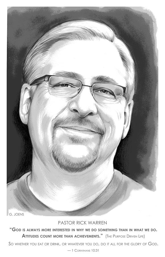 Pastor Rick Warren Digital Art by Greg Joens