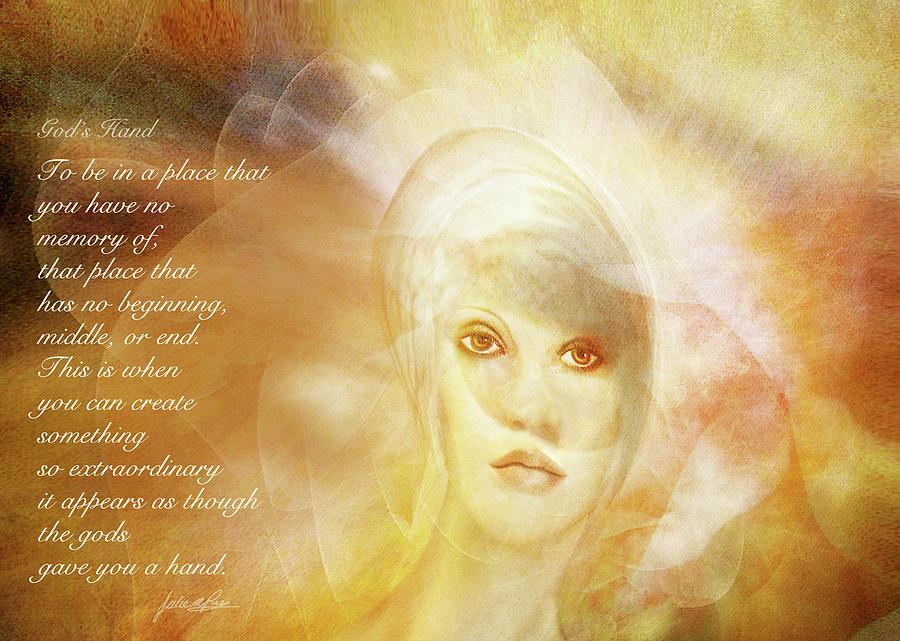 Acceptance Digital Art - Gods Hand by Julie m Rae