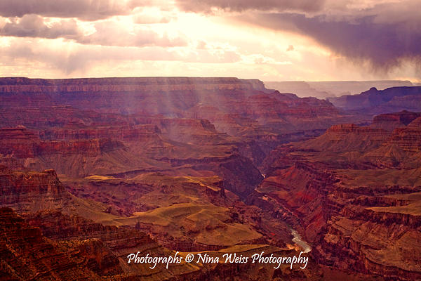 God Photograph - Gods Light Over The Grand Canyon - Fine Art Christmas Gift by Nina Weiss