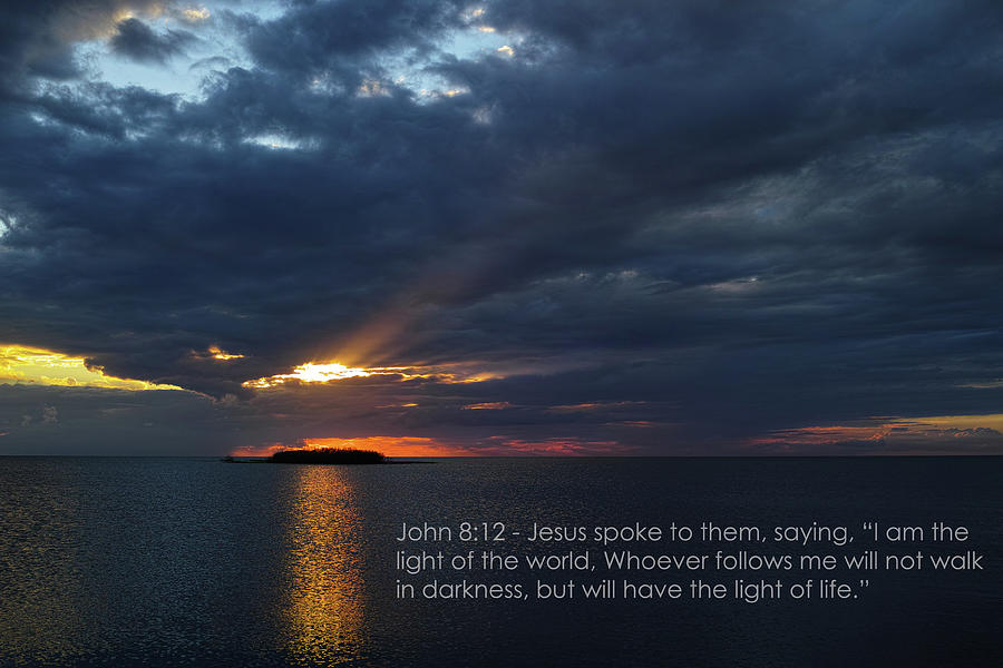 Bible Verse Photograph - Gods Lighthouse  by Roberto Aloi