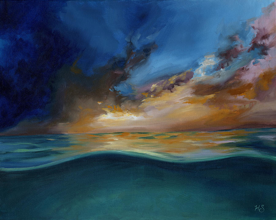 Gods Wave Of Love Painting by Julie Short