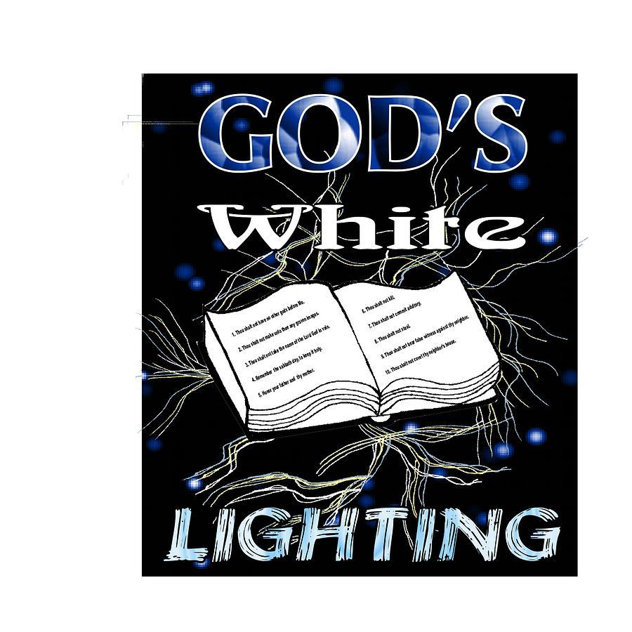 Gods White Lighting Digital Art by Kathy Frankford