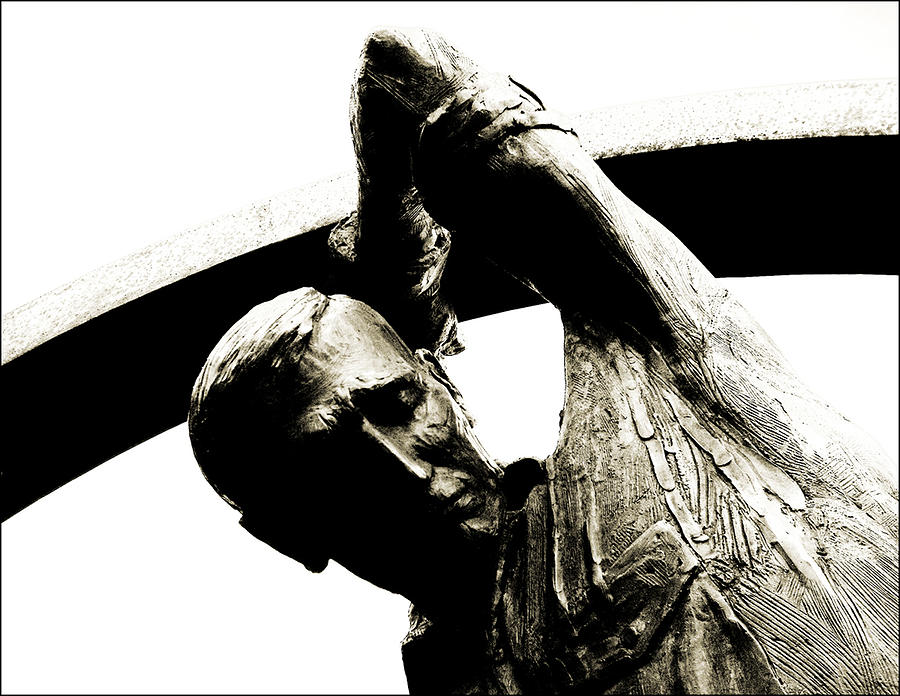 Statue Photograph - Gods Work Is Never Done by Jeff Willoughby