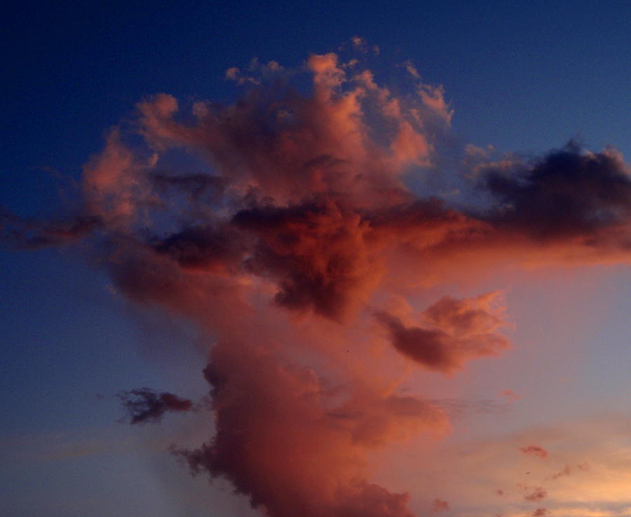 Red Photograph - Godzilla Cloud-debbie-may by Debbie May