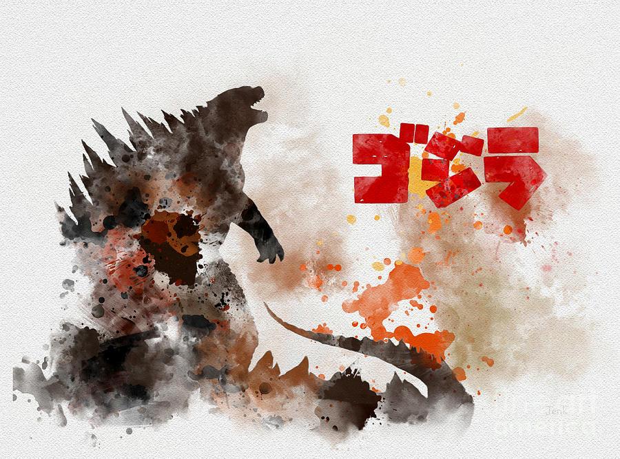 Godzilla Mixed Media - Godzilla by Rebecca Jenkins