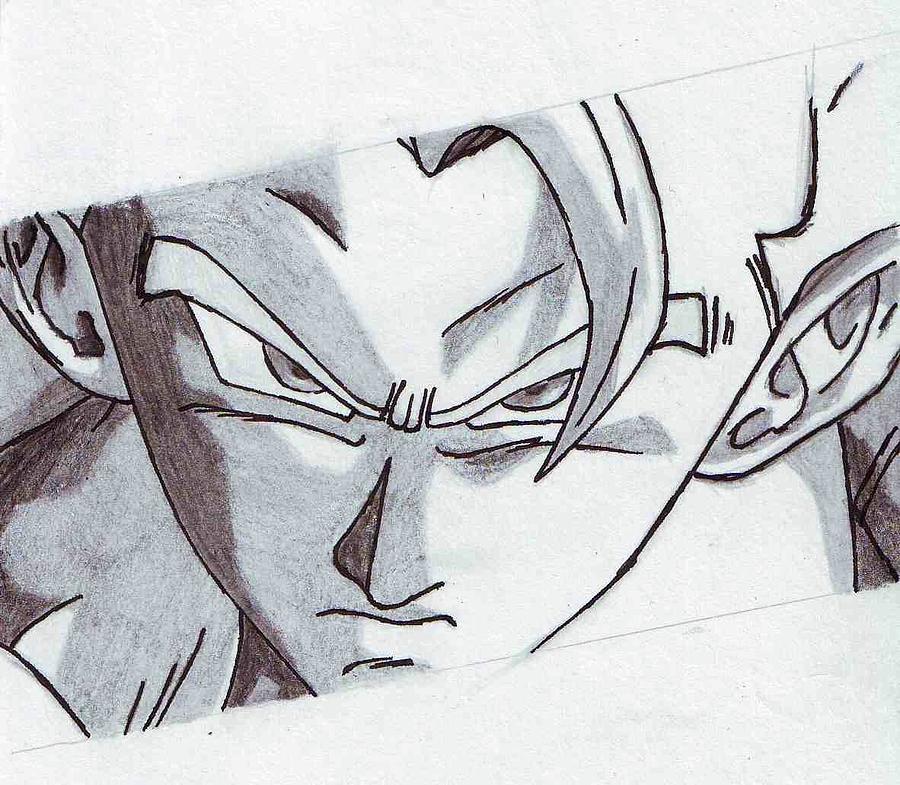 Gogeta Dbz Film 14 Drawing by Venance Motema