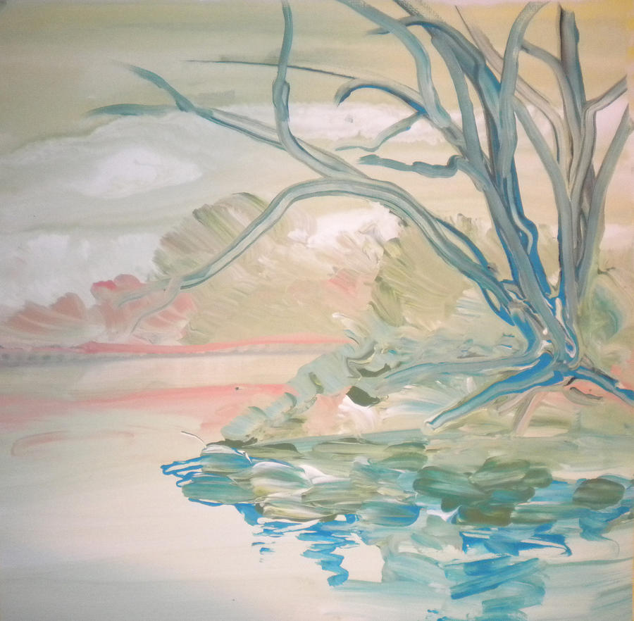 Alzheimer's Painting - Going Fishing By Sidney  by Art Without Boundaries