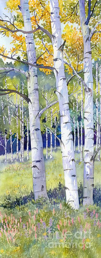 Landscape Painting - Going For Gold by Lorraine Watry