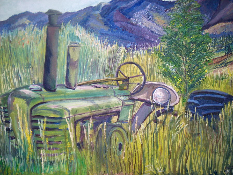 Landscape Painting - Going Green - Detail by Scott Zbryk