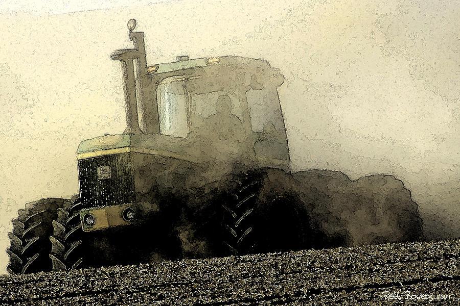 John Deere Photograph - Going Green II by Everett Bowers