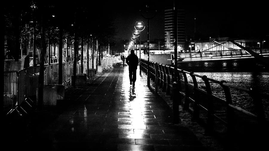 Going Home Alone - Dublin, Ireland - Black And White ...