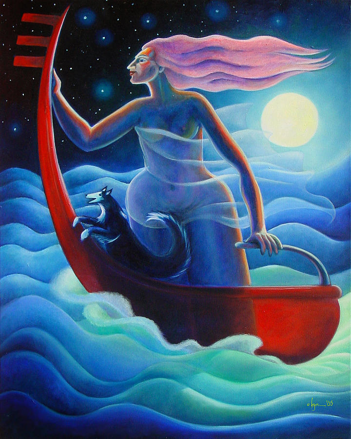 Dreams Painting - Going Home by Angela Treat Lyon