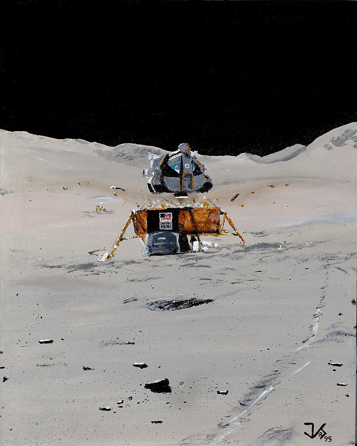Apollo Painting - Going Home - Apollo 17 by James Scotti