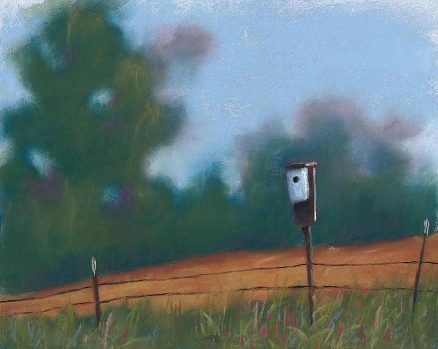 Birdhouse Painting - Going Home by Christine Camp