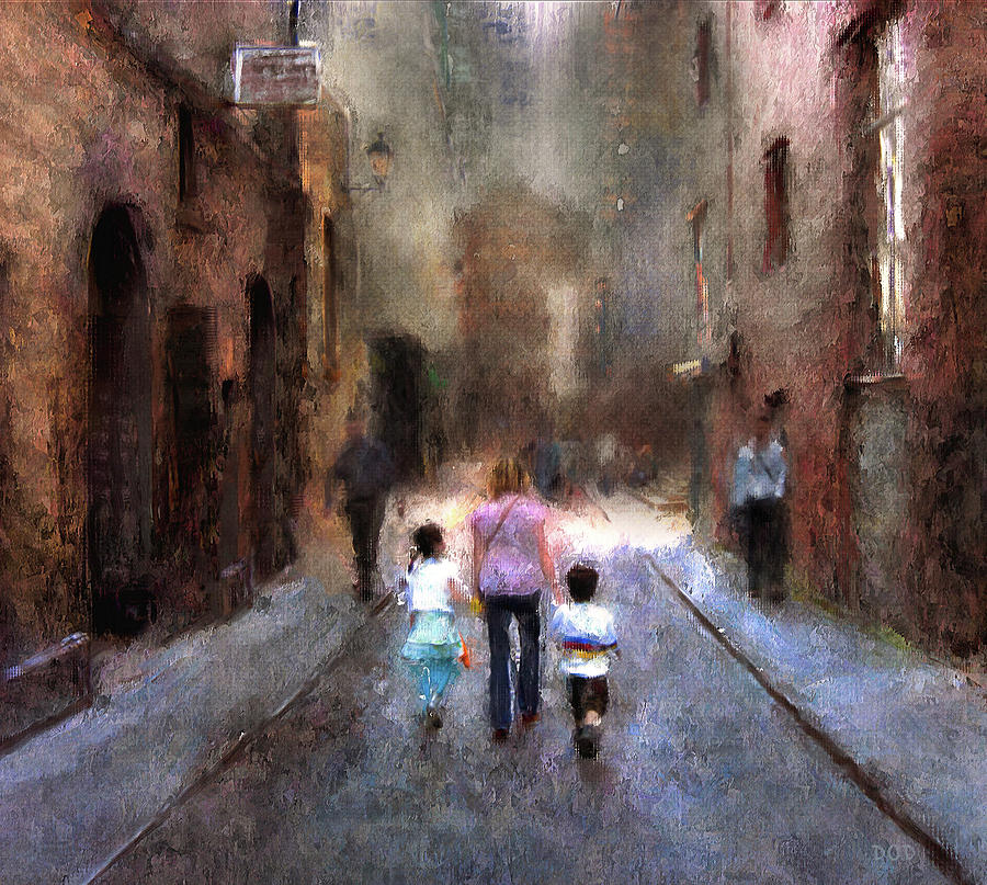 Oil Digital Art - Going Home by Declan ODoherty