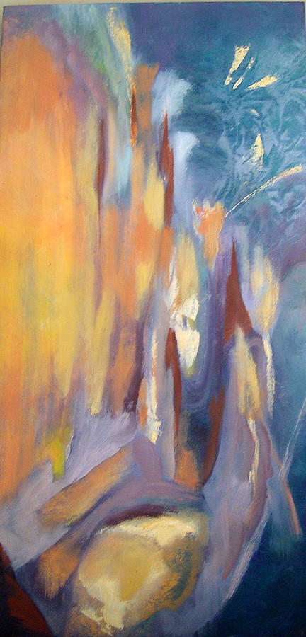 Abstract Painting - Going In by Zoe Landria