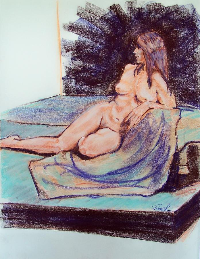 Figure Study Drawing - Going Over The Day by Charles Peck