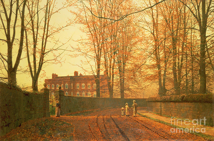 Going Painting - Going To Church by John Atkinson Grimshaw