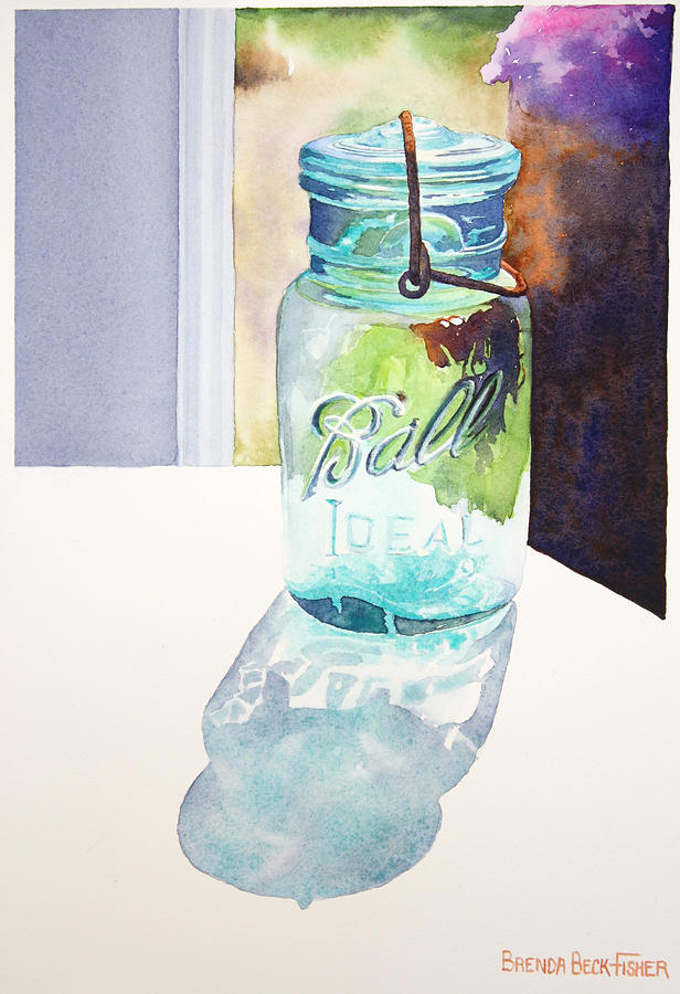 Ball Jar Painting - Going To The Ball by Brenda Beck Fisher