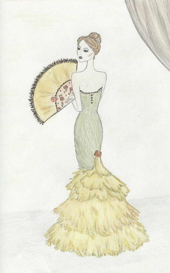 Fashion Illustration Drawing - Going To The Ball by Christine Corretti