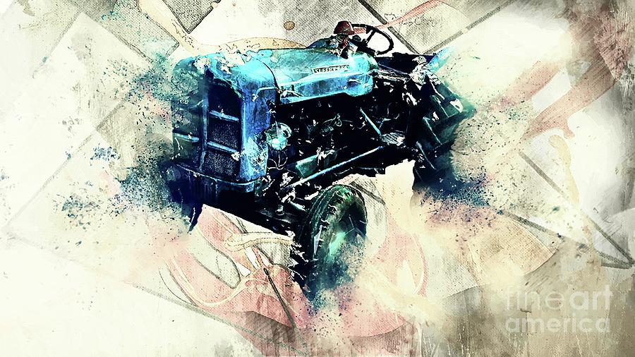 Tractor Mixed Media - Going To Work by Ivan Gomez
