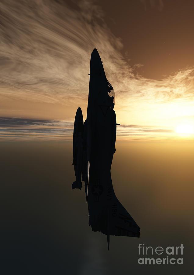 Aviation Digital Art - Going Vertical by Richard Rizzo