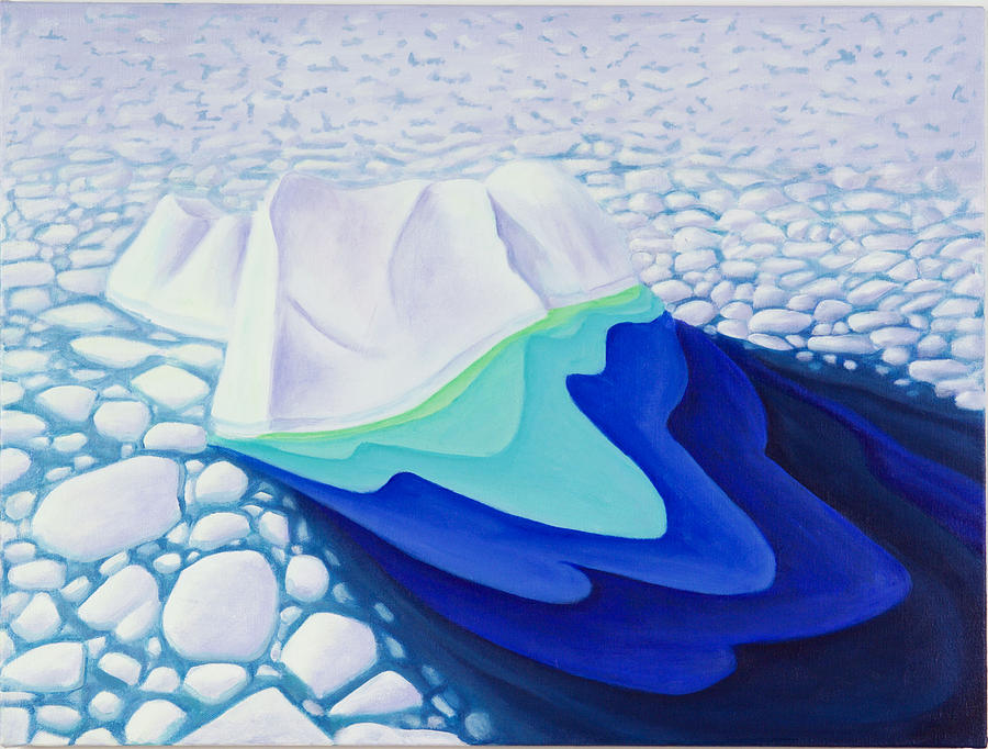 Arctic Painting - Going With The Floe by Lynn Soehner