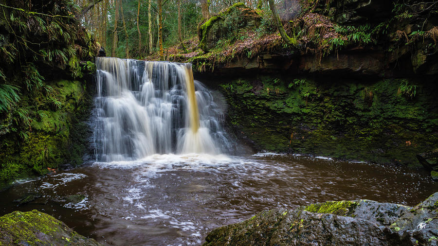 Bingley Photograph - Goit Stock Waterfall by Andy Beattie Photography