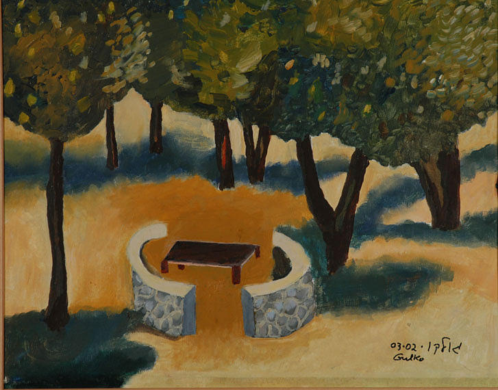 Golan Picnic Area   Painting by Harris Gulko