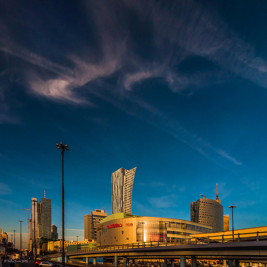 Gold And Blue City Photograph