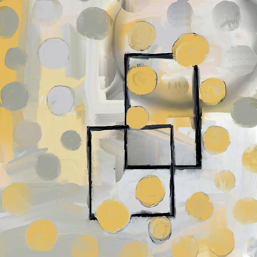 Gold And Grey Abstract by Eduardo Tavares