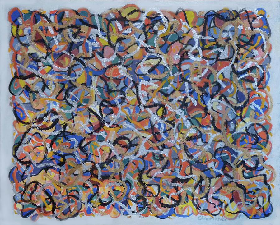 Gold and Silver Swirls by Stan Chraminski