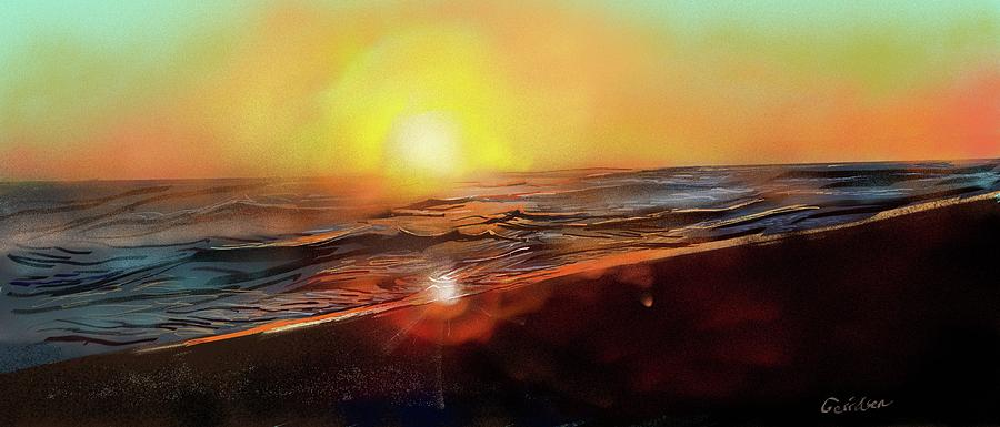 Gold Beach Oregon Sunset Digital Art by Brian Gerritsen