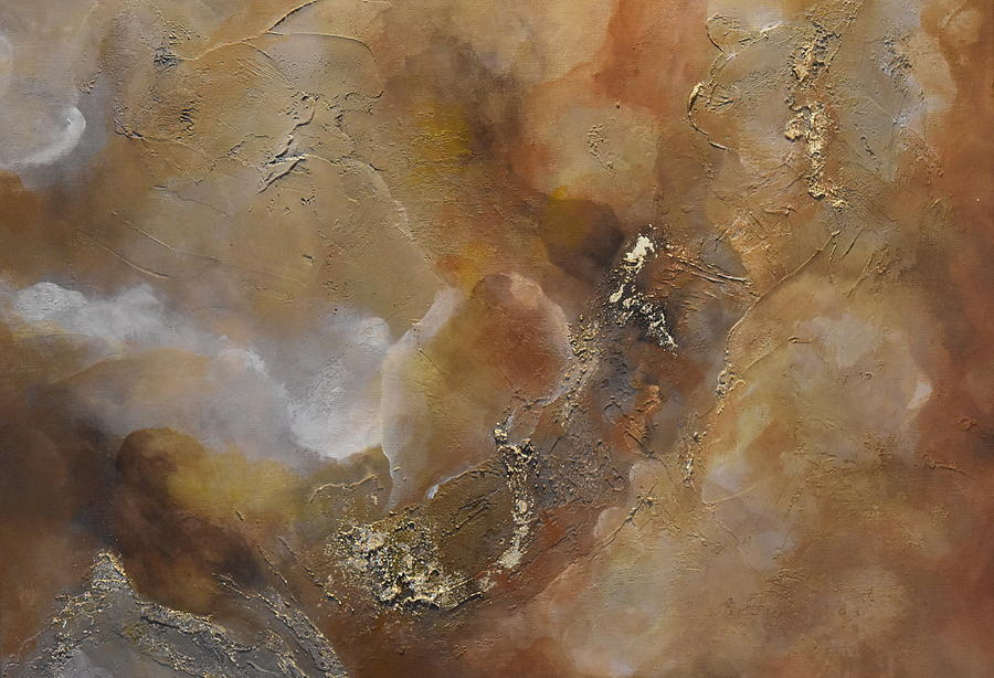 Acrylic Paintings Painting - Gold Bliss by Tamara Bettencourt