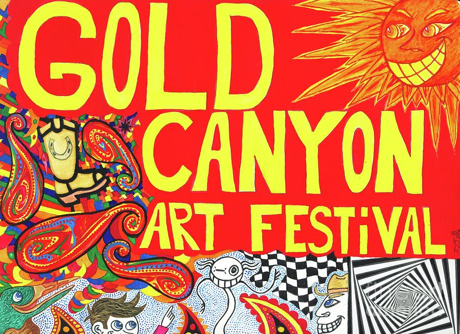 Gold Canyon Painting - Gold Canyon Art Fair by ArtSick Productions