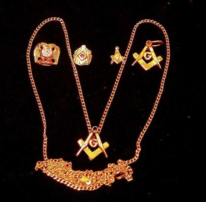 Gold Clad Masonic Jewelry Jewelry by Hal Sharpe