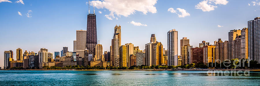Gold Coast Chicago Skyline Panorama Photograph By Paul Velgos