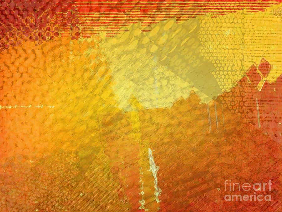 Abstract Digital Art - Gold by Cooky Goldblatt